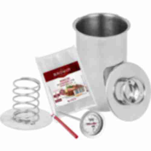 Stainless steel press ham maker / pressure ham cooker 1,5kg set with thermometer and cooking bags