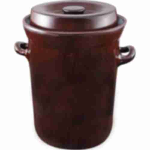 Stoneware pot with water seal and lid, 15L