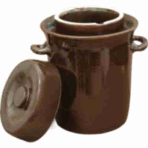 Stoneware pot with water seal and lid, 20L
