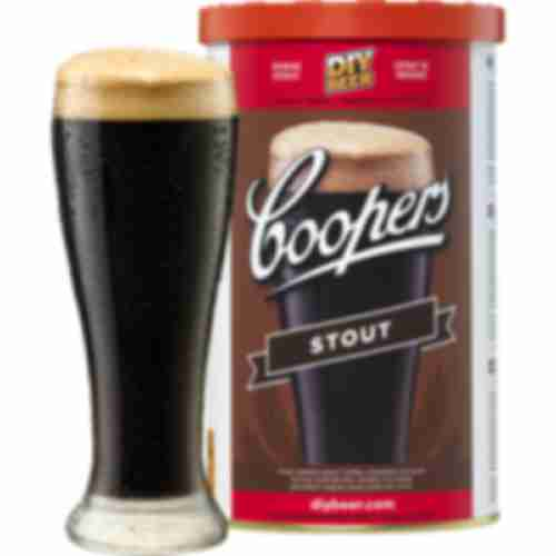 Stout Coopers beer concentrate 1,7kg for 23l of beer