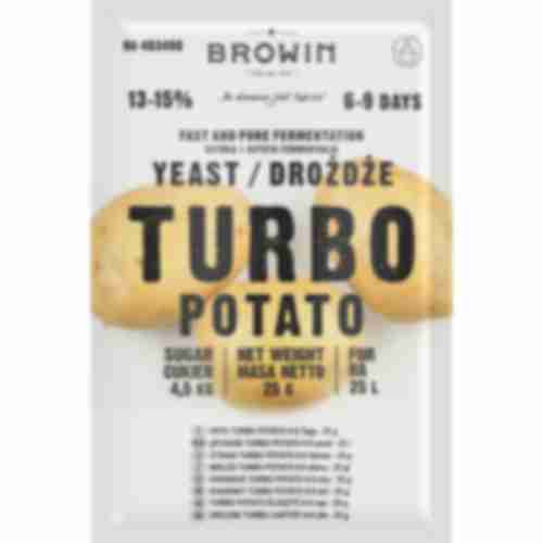 Turbo distiller's yeast Potato for 25l , 25g