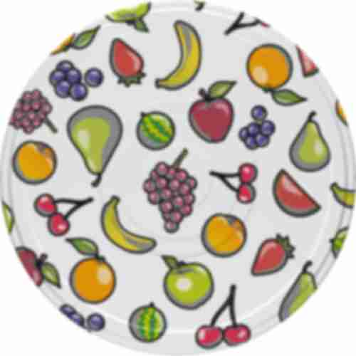 Twist off lid Ø66 , Fruit Cocktail graphic - 10 pcs.