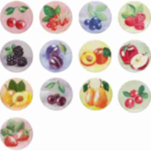 Twist off lid Ø66 , PasteLOVE fruits graphic- 10 pcs.