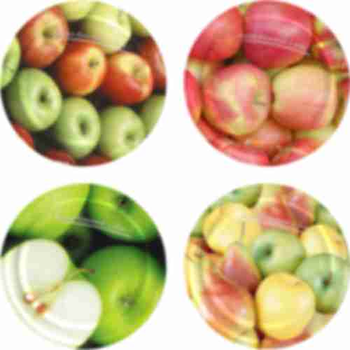 Twist off lid Ø82/6 , apples and pears graphic - 10 pcs.