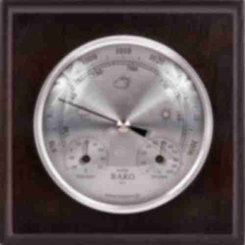 Wall weather station , barometer , hygrometer , thermometer , silver coloured dial