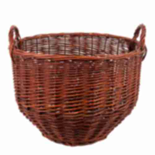 Wicker basket with wood wool for 34l demijohn